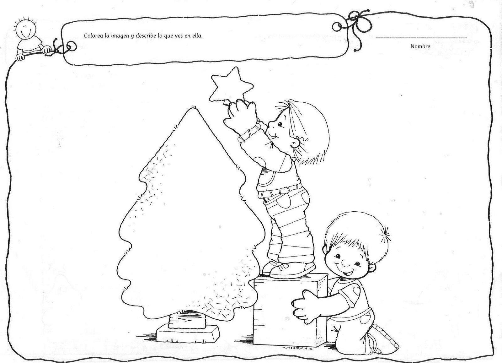 Bonito Niños Navidad Hojas Para Colorear Ideas - Ideas Creativas ...