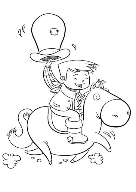 dibujo cowboy