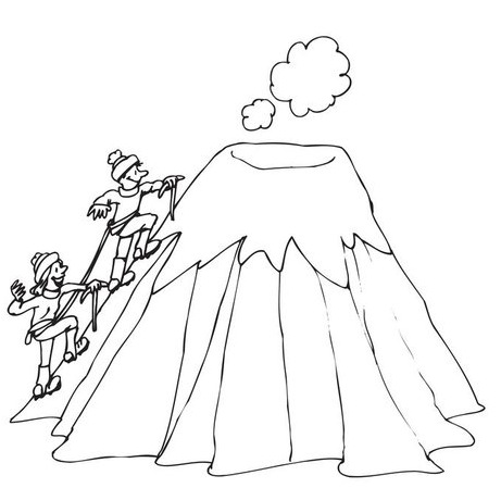 Dibujo De Volcan Para Pintar