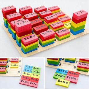 Domino para niños para aprender a sumar y restar