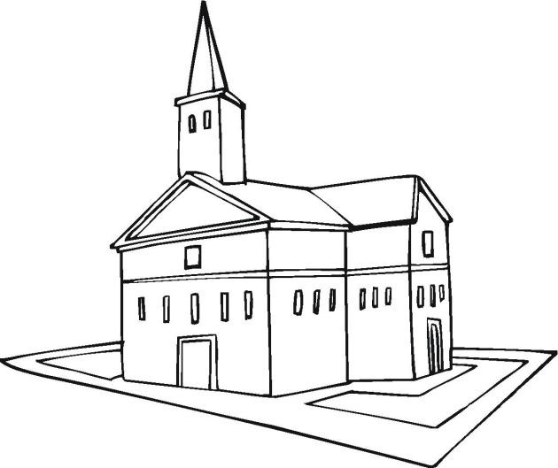 dibujo de iglesia