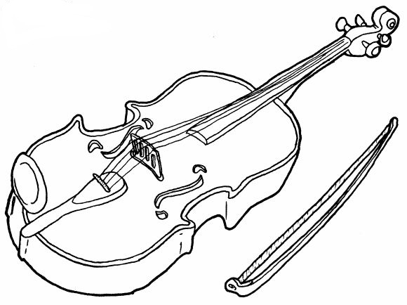 dibujo de violin